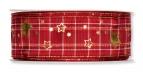 Weihnachtsband Sterne kariert versch. Farben 35mm15m
