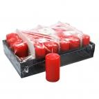 Kerzen granat rot 10x5cm 24Stk