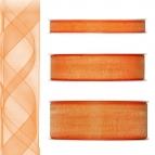 Dekoband Organza orange 50m in drei Größen