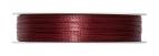 Doppel Satinband bordeauxrot 3mm x 50m