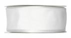 Satinband - Drahtkante weiß 40mm x 25m