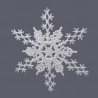 Schneeflocken zum Hängen weiß 27cm 6Stk