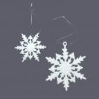 Schneeflocken weiß Glitter in zwei Größen