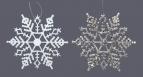 Schneesterne in weiß oder silber 10cm