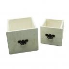 Schublade weiß 17x16 und 13x12cm 1Set