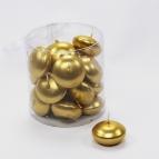 Schwimmkerzen gold lackiert 45mm 20Stk