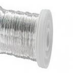 Dekodraht Spule silber (Silderglanzdraht)  Ø30mm132m