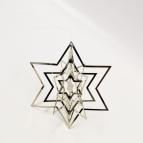 X!Stern 3D zum Hängen gold und silber 12cm