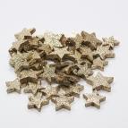 Sterne zum Streuen gold Glitter 4 und 5cm 40Stk