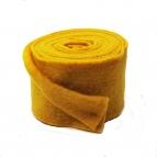 Wollband Lehner Wolle gelb - sonnengelb 13cm5m
