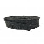 Wollvlies Topfband Lehner Wolle anthrazit 7,5cm5m