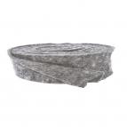 Wollband Lehner Wolle grau-hellgrau 7,5cm