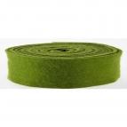Wollband Lehner Wolle grün-moosgrün 7,5cm5m