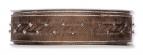 Weihnachtsband silberne Schlaufen braun 25mm15m