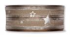 Weihnachtsband Sterne braun 40mm20m