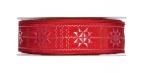 Weihnachtsband Sterne rot Norweger 30mm15m