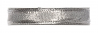 Weihnachtsband silber -Drahtkante - 15mm25m