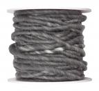 Wollschnur Wollband grau 5mm10m