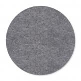 Filz Tischset Platzdeckchen rund grau 40cm (2St)