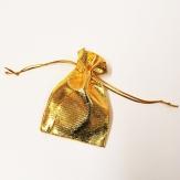 Stoffbeutel gold 10 cm (40 St) Säckchen