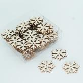 Kristallsterne creme beglittert 4cm 72Stk