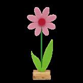 Filzblume auf Holz zum Stellen rosa 27cm  4Stk