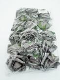 Foam-Rose grau Ø8cm 18Stk