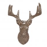 Glimmerelche 3D zum Hängen gold platin 9x14cm 12Stk