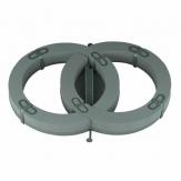 Oasis® Autoschmuckhalter Doppelring mit Steckschaum für Frischblumen  und Saugnapf (Vakuumsauger) für die Hochzeitsfloristik  57x39x7,5cm(1St)