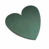 Oasis® Herz Bioline® mit Steckschaum und Holzunterlage 60x60 (2St)