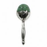 Oasis® Brautstraußhalter Elegant® mit Steckschaum in Metalloptik SILBER(2St)