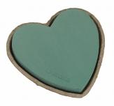 Oasis® Herz mit Steckschaum für Frischblumen und Biolit® Unterlage von 17cm-34cm in verschiedenen Größen