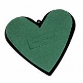 Oasis® Herz mit Steckschaum für Frischblumen und Kunststoffunterlage 14+17cm