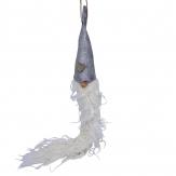 Wichtel grau mit weißem Bart zum Hängen 44cm 2Stk