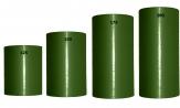Acetat Kranzband grün-dunkelgrün in verschiedenen Breiten  25m auf der Rolle