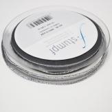 Trauerband Lurexkante silber-grau 10mm25m