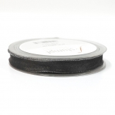 Weihnachtsband Lurexkante Satin silber-grau 15mm20m