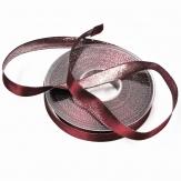 Weihnachtsband Lurexkante Satin silber-lila 15mm20m