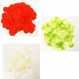 Seidenblumen - Künstliche Rosenblätter in drei Farben 864Stk