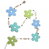 Blumengirlande grün-blau 135cm 1Stk