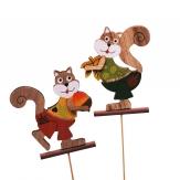 Blumenstecker Eichhörnchen 16Stk
