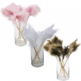 Blumenstecker Federn in drei Farben 12Stk