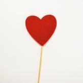 Blumenstecker Herz aus Filz rot 5cm 36Stk