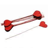 Blumenstecker Herz rot 5x6cm 24Stk