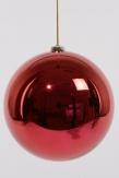 Christbaumkugel Kunststoff bruchfest rot 20cm 1Stk
