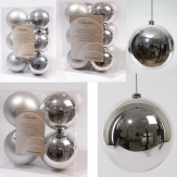 Christbaumkugel Kunststoff bruchfest silber verschiedene Größen
