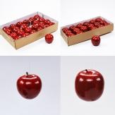 Deko Äpfel rot zum Hängen in zwei Größen