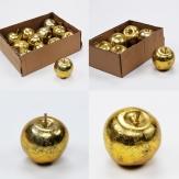 Deko Äpfel gold in zwei Größen