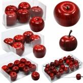 Deko Äpfel rot in verschiedene Größen