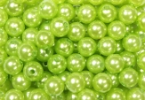 Deko Perlen apfelgrün in zwei Größen
